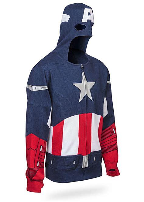 Hoodie Zipper Captain America Redmerch captain america costume hoodie
