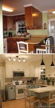 Budget Kitchen Makeover Ideas Before And After 25 Budget Friendly Kitchen Makeover Ideas Granite Countertop Countertop