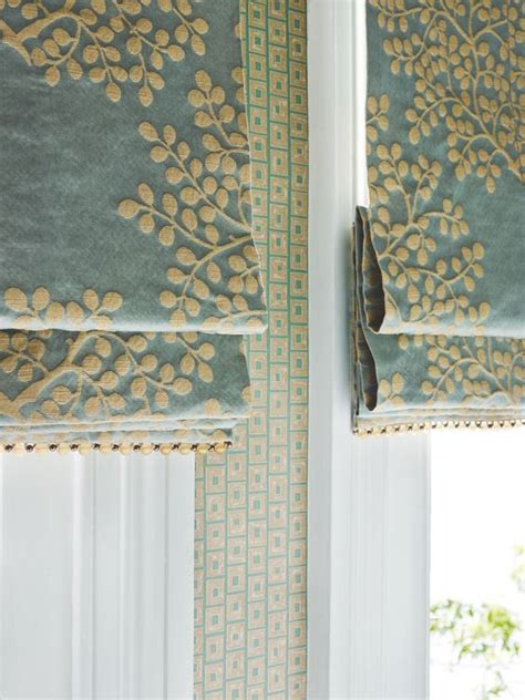 Fabric Blinds For Windows Ideas This Shade With Bead Trim Custom Window Treatment Ideas Pinterest Beautiful