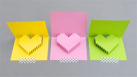 Pixel Pop Up Card Template by Pixelated Popup Card 8 Steps With Pictures
