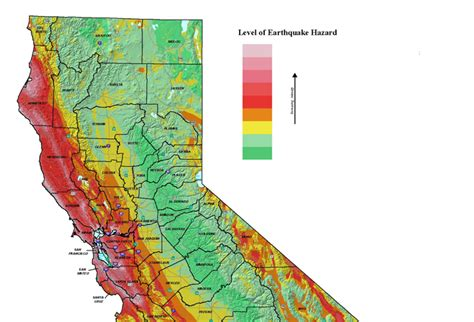 california map earthquake risk earthquakes vulnerability assessment