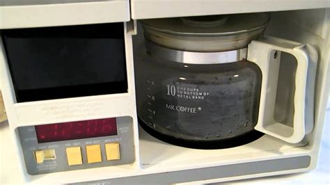 mr coffee under cabinet coffee maker mr coffee compact under the cabinet coffeemaker youtube