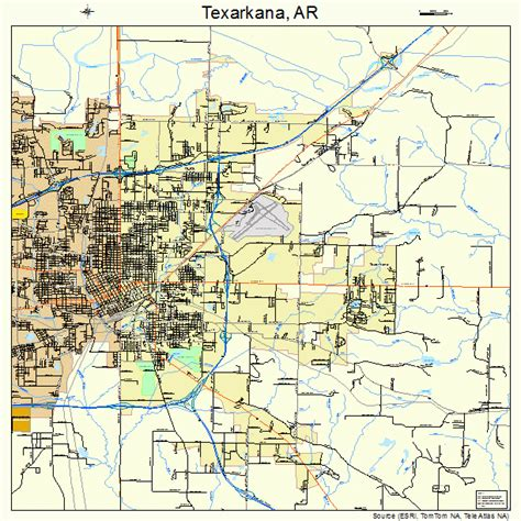 texarkana texas map texarkana arkansas map 0568810