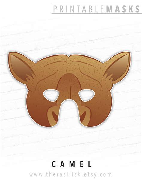 printable camel mask template camel mask printable printable 360 degree