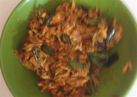 resep pampis tongkol pedas tongkol suwir khas manado