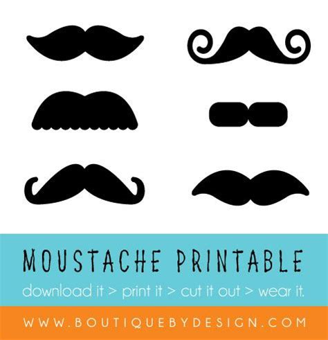 free printable mustache party decorations free moustache download printable themed parties and