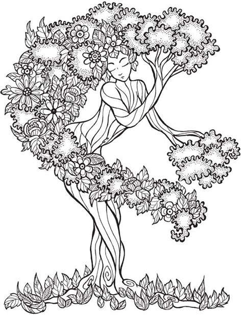 dover coloring books for sale dryad tree goddess coloring page from dover publications