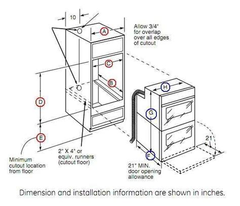 how to install a wall oven in a base cabinet cabinet dimensions for wall oven savae org