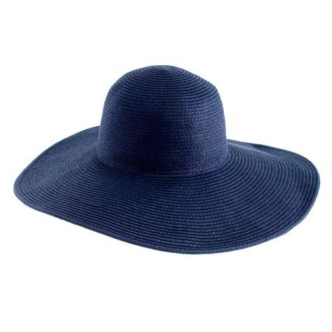 j crew summer straw hat in blue lyst