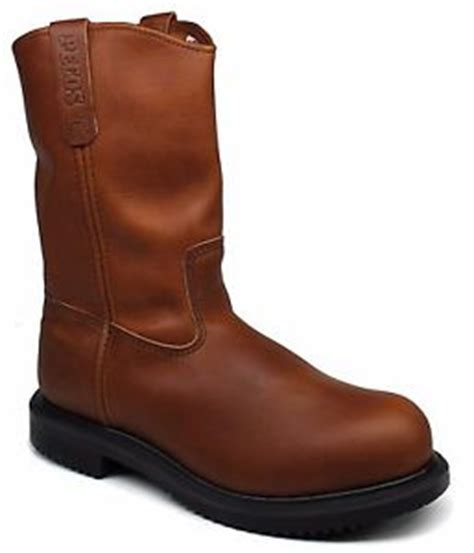 mens narrow work boots mens wing 174 pecos pull on steel toe work boots x wide