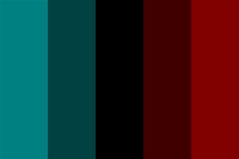 red color combinations dark cyan and red color palette