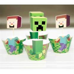 cupcake tops minecraft characters cupcake wrappers toppers this started