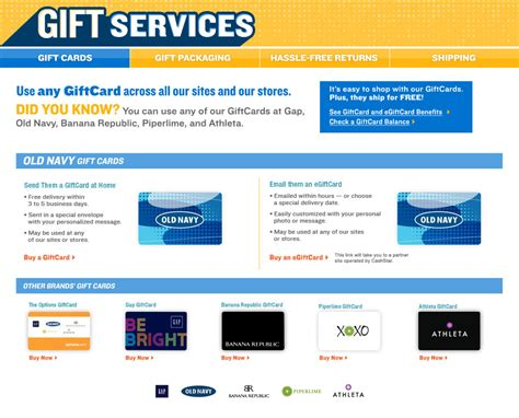 Can You Use Old Navy Gift Card At Gap - image gallery old navy com