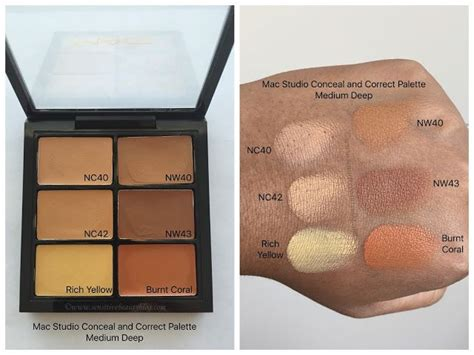Mac Concealer Palette mac studio conceal and correct palette swatches