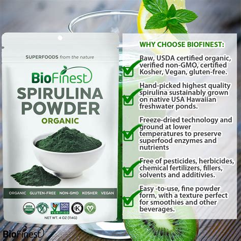 3 Green Spirulina Superfoods spirulina powder 100 freeze dried vitamins superfood