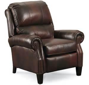 2671 hi leg leather recliner