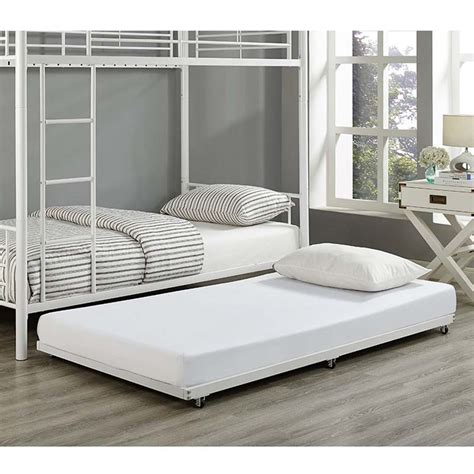 Trundle Bed Frame Walker Edison Roll Out Trundle Bed Frame White Bt40tbwh