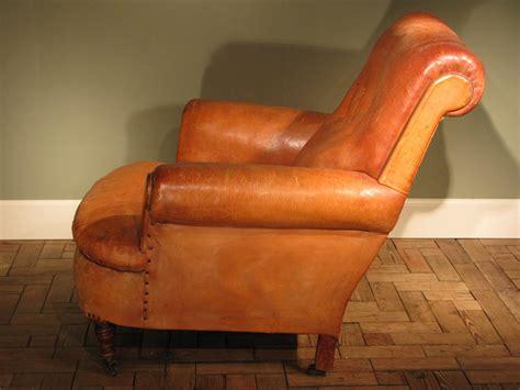 circa 1910 1920s leather armchair leather