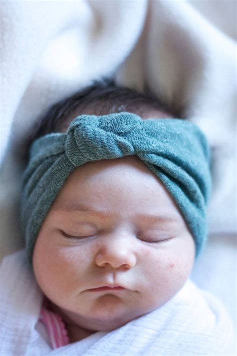 Turban Baby seafoam green baby knotted turban headband baby and it hurts