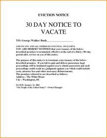 30 Day Eviction Notice Template by 9 30 Day Eviction Notice Template Cashier Resume