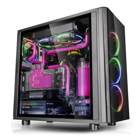 thermaltake view 31 fan controller buy thermaltake view 31 tg rgb tempered glass mid tower