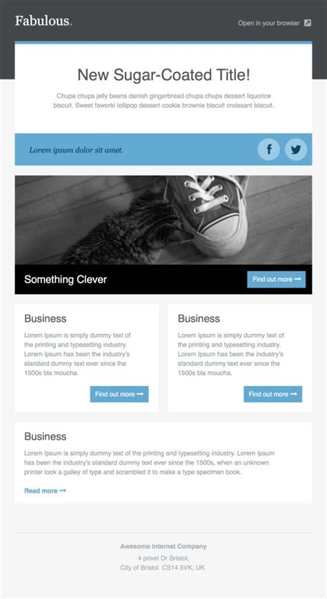 36 Best Email Newsletter Templates Free Psd Html Download Psdtemplatesblog Newsletter Html Template