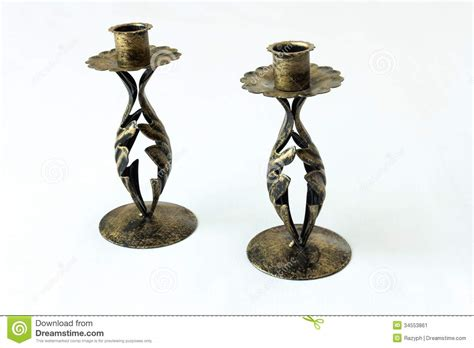 wrought iron candle holder stock image image 34553861