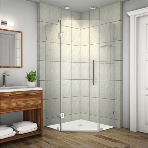 Neo Angle Frameless Shower Door Neoscape Gs Neo Angle Door Frameless Shower Enclosure Wayfair