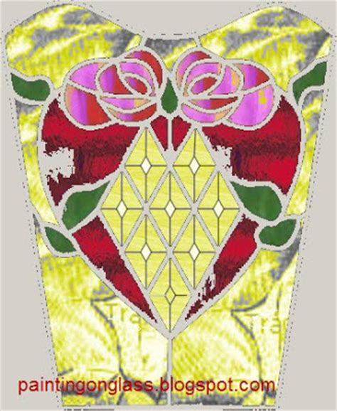 Stained Glass Vase Patterns by Stained Glass Wedding Vase Pattern Painting On Glass