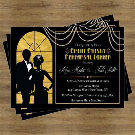 Great Gatsby Invitation Rehearsal Dinner Invitation Great Gatsby Invitation Template