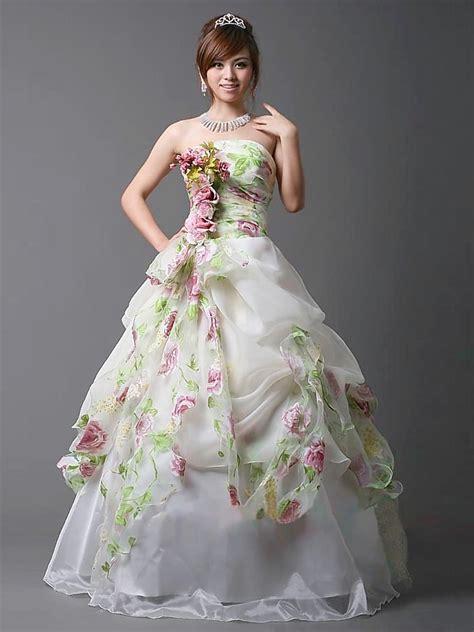 Fairism Dress style wedding dress with flower applique styles of wedding dresses