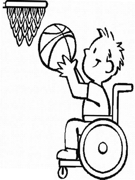 coloring pages physical education the child disabilities athlete basketball coloring page