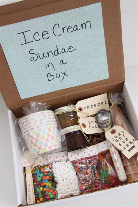 gift for family sundae in a box gift for families