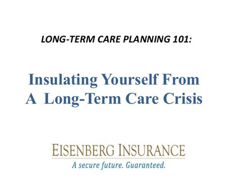 the process of long term care planning long term care planning 101