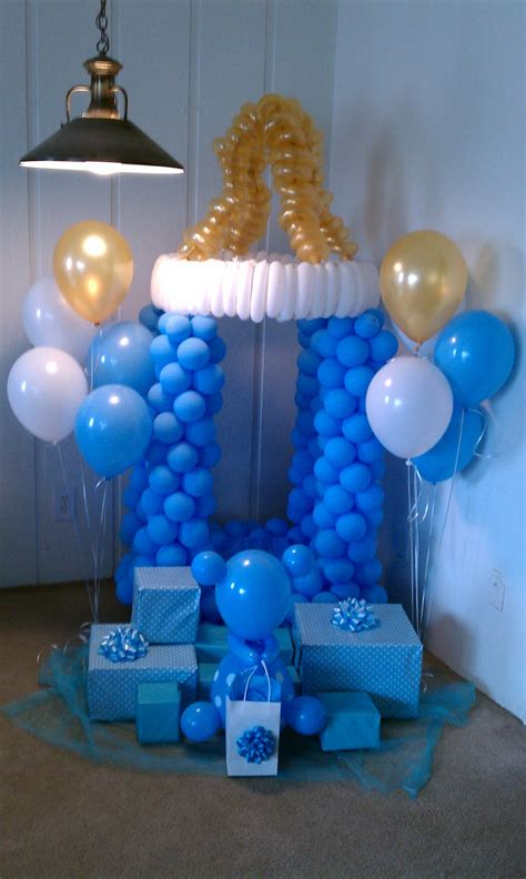 Decorating For A Baby Shower by Baby Shower Balloon Decoration Favors Ideas