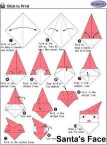 How To Make A Santa Origami - 58 best ideas about origami santa on watches