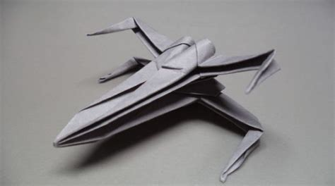How To Make A Paper X Wing Fighter - paper airplanes how to fold an origami x wing fighter
