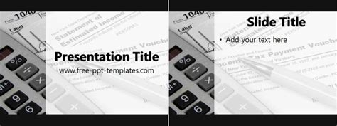 Tax Ppt Template Free Powerpoint Templates Tax Ppt Templates Free
