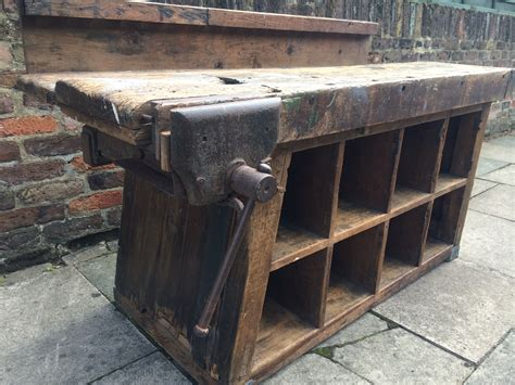 industrial work bench vintage industrial pigeon holes work bench heavenly metal