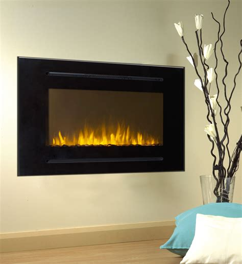 Recessed Electric Fireplace 40 Quot Black Electric Fireplace Forte 28 Quot H Tallest Recessed Inset Or Mounted Ebay