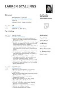 Exle Elementary Resume by Resume Abroad Sales Lewesmr