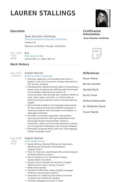 Sle Resume For Teachers Abroad Sle Resume Abroad 28 Images Teaching Special Needs Lawteched 100 Resume For Work Abroad 275