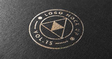 logo versace psd gold print logo mock up template psd mock up templates