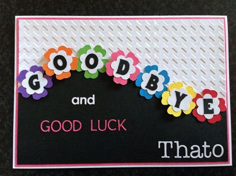 farewell themes names 27 best images about good bye good luck card ideas on