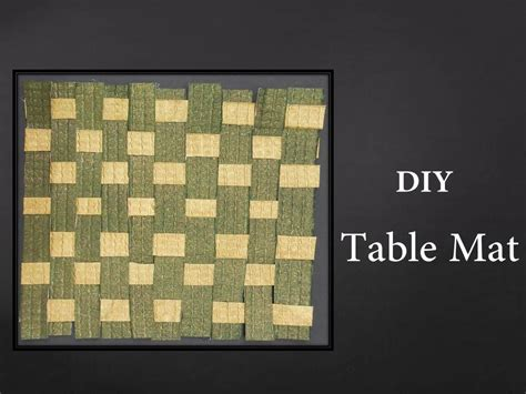 How To Make Mat With Paper - how to make a woven paper mat