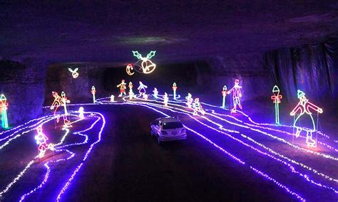underground christmas lights louisville underground light show louisville mega cavern groupon