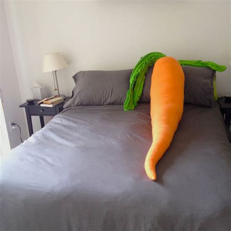 giant pillow bed giant carrot body pillow the green head