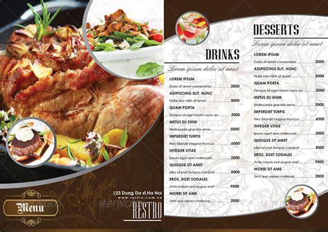 modern restaurant food drinks menu  famithemes