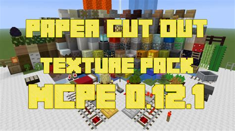 How To Make Paper On Minecraft Pe - minecraft pe texture pack paper cut out