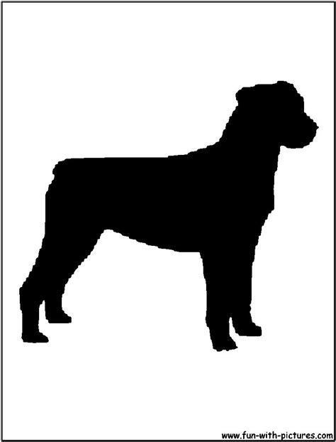 rottweiler silhouette free coloring pages of rottweiler